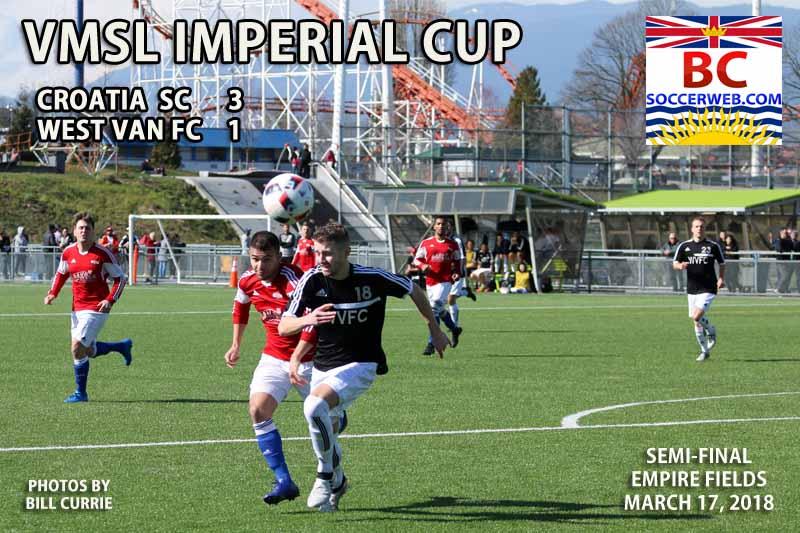 VMSL IMPERIAL CUP SEMIFINAL, Croatia SC 3, West Van FC 1