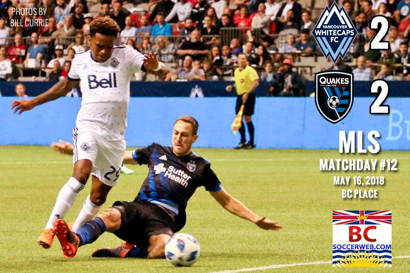 MLS PHOTOS: Vancouver Whitecaps 2, San Jose Earthquakes 2, May 17, 2018