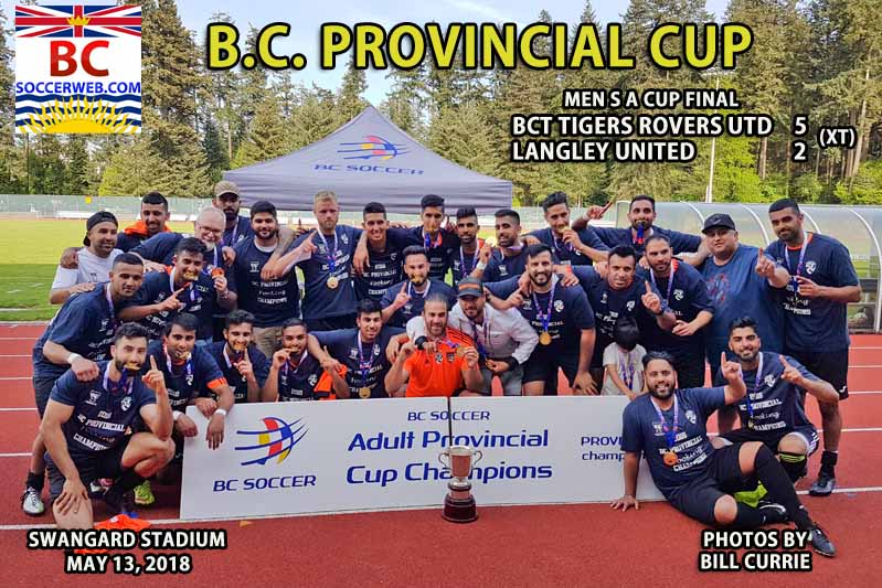 BC Provincial Men's A Cup: BCT Rovers Tigers Utd. 5, Langley Utd. 2 (XT)