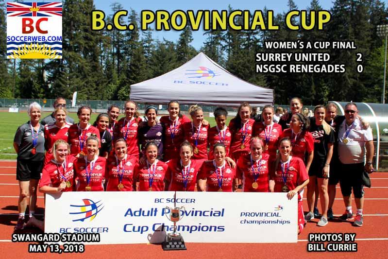 BC Provincial Women's A Cup: Surrey United 2, NSGSC Renegades 0