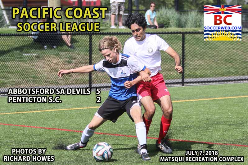 PCSL PHOTOS: Abbotsford SA Devils 5, Penticton SC 2, July 7, 2018